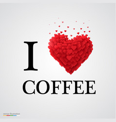 i love coffee heart sign vector image