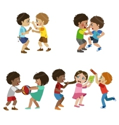 Kids Bullies vector image vector image