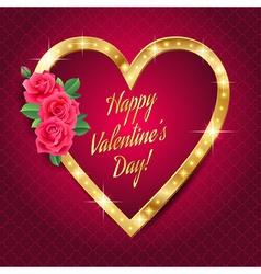 banner valentine retro vector image vector image