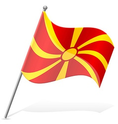 Flag of macedonia vector