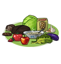 Healthy eating low-carb composition vector image