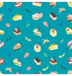Sweet turquoise pattern vector image