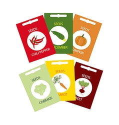 Vegetable Seeds Icon vector image vector image