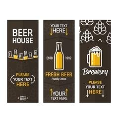 Beer vertical vintage banners vector image