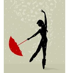 girl dances vector image