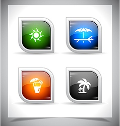 Plastic web buttons vector image vector image