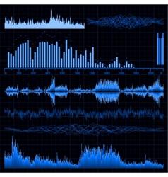 Sound waves set Music background EPS 8 vector image vector image