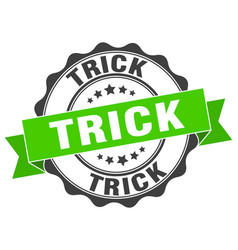 trick stamp sign seal vector image
