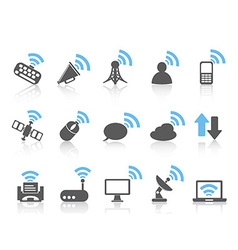 wireless communications iconblue series vector image vector image