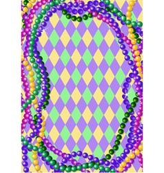 Mardi gras beads vector