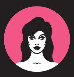 pretty woman vector image