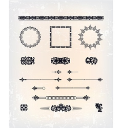 set of abstract arabesque pattern vector image vector image