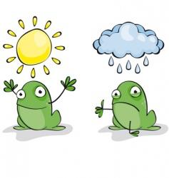 weather frog vector image vector image