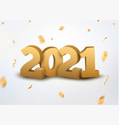 2021 new year logo happy premium banner eve vector image
