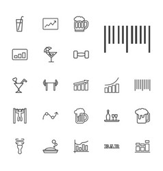 22 bar icons vector