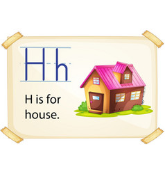 A letter H for house vector