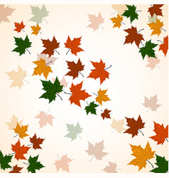 autumn background of maple leaves colofrul image vector image