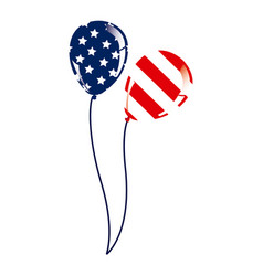 Balloon with stars and stripes icon vector