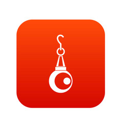 Beauty pearl pendant icon digital red vector