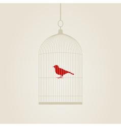bird in a cage vector image