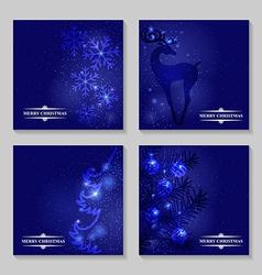 blue backg set vector image