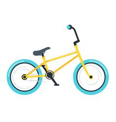 Bmx bike flat vector