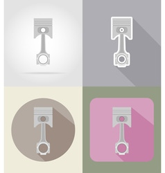 Car equipment flat icons 03 vector