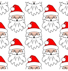 Christmas seamless pattern background with Santa vector image