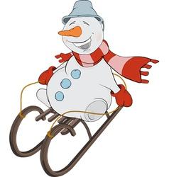 Christmas Snowball and sledge vector