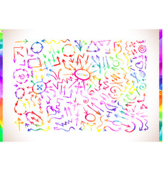 Colorful watercolor arrows vector