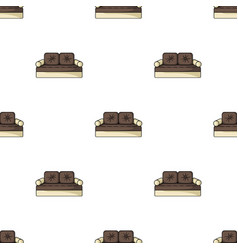 Couch icon in cartoon style isolated on white vector