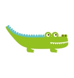 Crocodile cute isolated icon vector