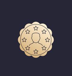 customer satisfaction badge sign vector image