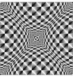 Design warped square volumetric pattern vector
