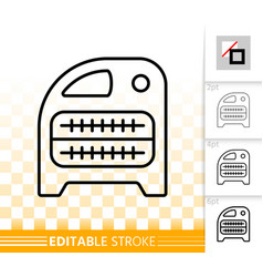 domestic heater simple black line icon vector image