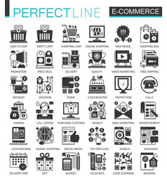 e-commerce and shopping black mini concept vector image