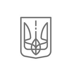 emblem ukraine trident coat arms line icon vector image