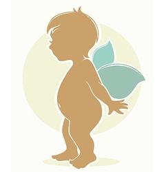 Fairy baby vector