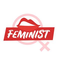 Feminist slogan for apparel design vector
