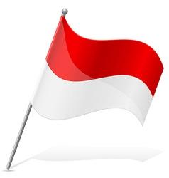 Flag of monaco vector