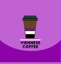 Flat icon design collection viennese coffee vector