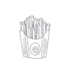French Fries Hand Drawn Sketch vector