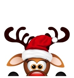 Funny christmas reindeer vector