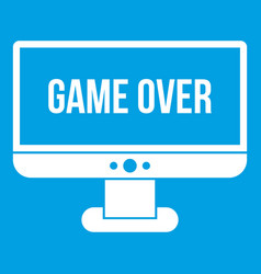 game over icon white vector image