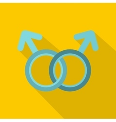 Gay love sign icon flat style vector