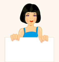girl with clean sheet vector image