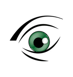Graffiti eye expression vision draw image vector