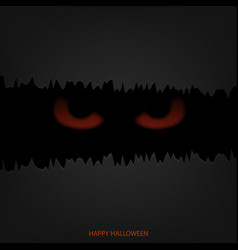 halloween mask with red glowing eyes vector image