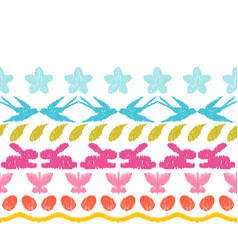 Happy easter ikat seamless pattern vector