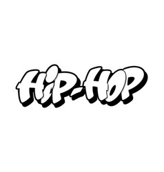Hip hop font in graffiti style vector
